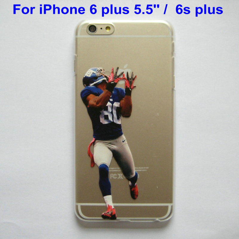 Clear Case for iphone 6 plus 5.5'' 6s plus American Football Gronkowski Cruz Johnson Manning printed Phone Cover for iphone 6+(China (Mainland))