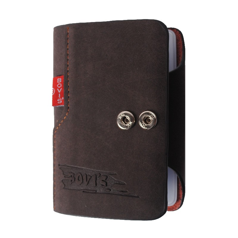 Bovis leather business card holder vintage credit card holder hasp bovis leather business card holder vintage credit card holder hasp card organizer bags travel card wallet bih003 pr20 us41 fandeluxe Image collections