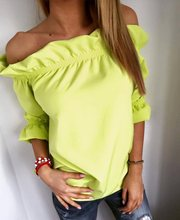 Cute T Shirt Women 2016 Fashion Candy Color Butterfly Slash Neck Puff Sleeve Solid Sexy Top Fashion T-Shirts For Women(China (Mainland))