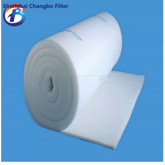 Ceiling air filter material/rolls dust filter material/polyester spray booth air filter(China (Mainland))