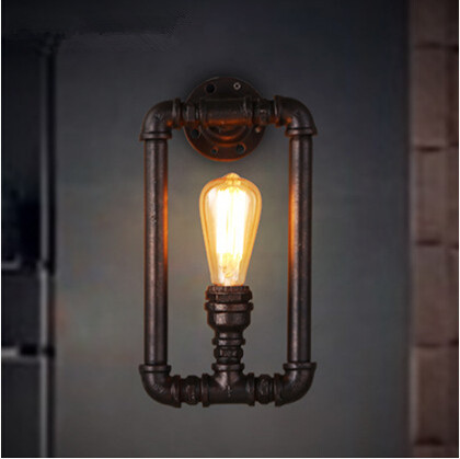 Water Pipe Vintage Edison Wall Lamp Loft Style Industrial Nordic Wall Light Fixtures For Bar Aisle Home Lights Lamparas De Pared<br><br>Aliexpress