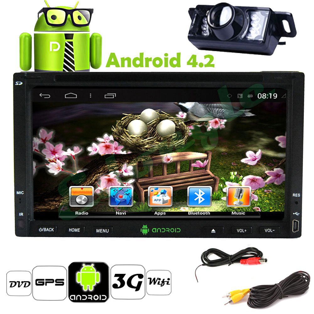 7Inch Double Din in Dash Navigation GPS Car DVD Player Android 4.2 USB Sd Bluetooth WIFI Car Pc Radio Navigation Backup Camera(China (Mainland))