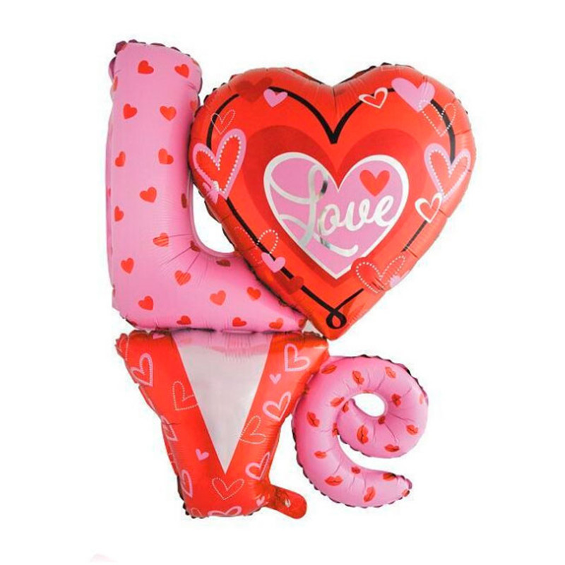 Wholesale 50pcs/lot 90*80cm Love foil balloon wedding birthday party wall decoration large size balloons mylar LOVE baloon<br><br>Aliexpress