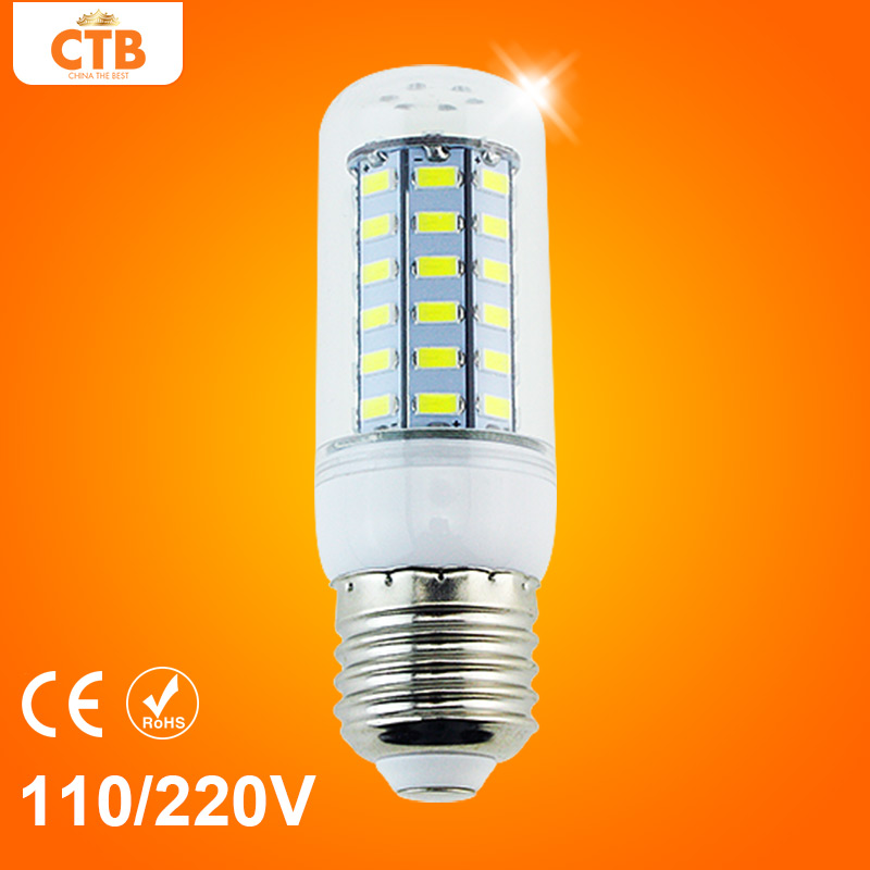 Led Lamps E27 5730 AC 110V 220V 24 36 48 56 69 72 Leds Lights Corn Bulb Chandelier Candle Lighting Home Decoration(China (Mainland))