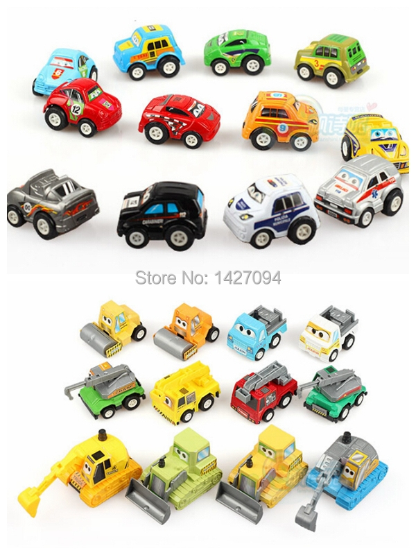 free shipping 24pcs miniature car scale models small car kids baby toys children metal car sets for kids High Quality for Gift(China (Mainland))