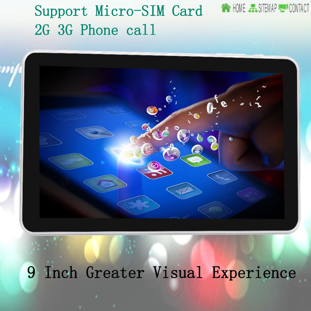 9 Inch Original 3G Phone Call Android Quad Core Tablet pc Android 4 4 2GB RAM
