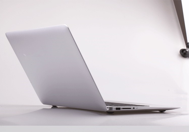 13.3inch Aluminium laptop notebook computer 4GB ram and 128GB SSD Intel celeron 1037U laptop WIFI bluetooth free shipping
