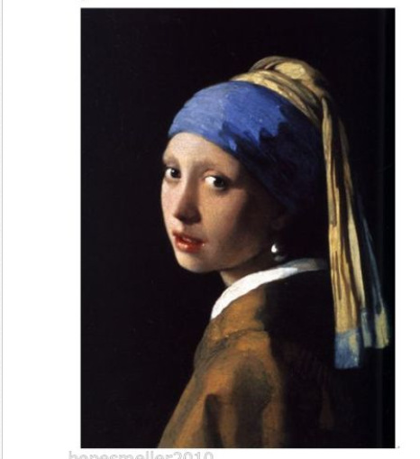 hand painted canvas oil paintings picture portrait Artist Jan Vermeer famous Reproduction painting Girl with a Pearl Earring(China (Mainland))