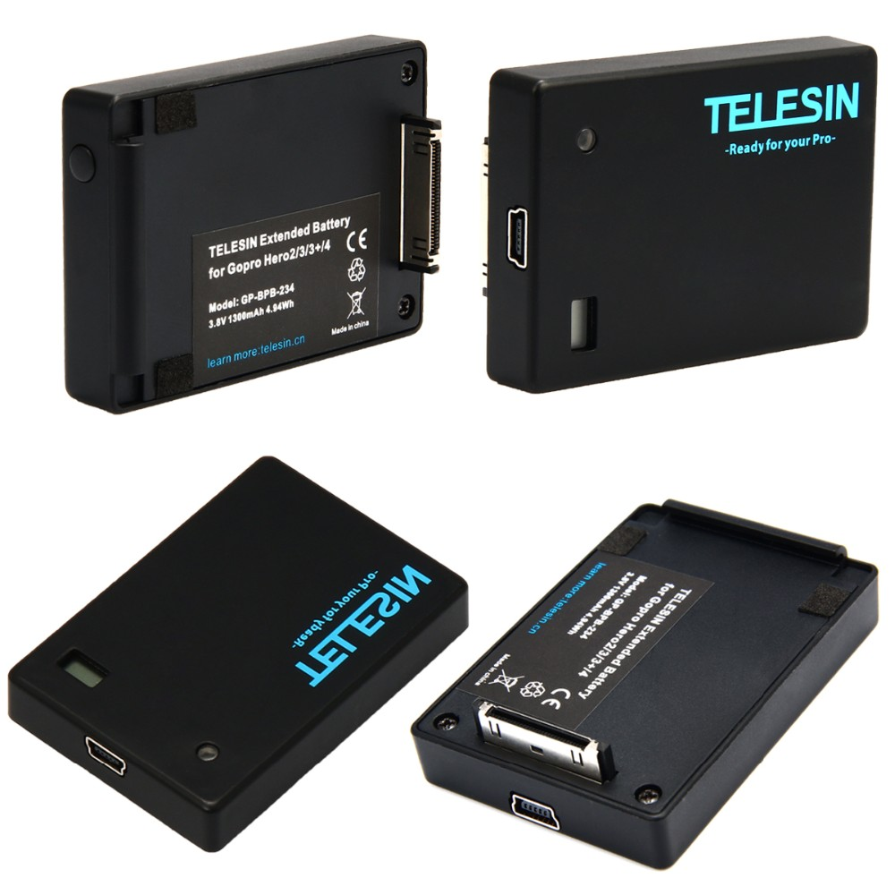 telesin 1300 mah gopro battery bacpac extended battery for. Black Bedroom Furniture Sets. Home Design Ideas