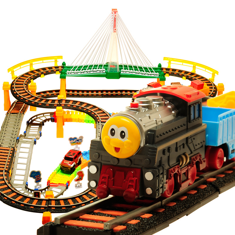 2015 FenMing 6608 Model E Thomas Train Educational Double Layer Electric Tracking Simulation Scale Model Educational Toy(China (Mainland))