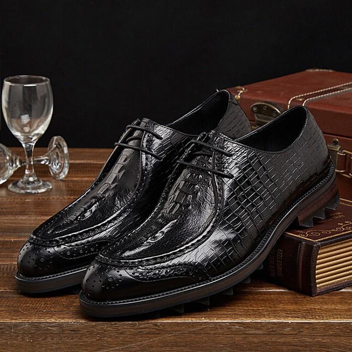 Здесь можно купить  2015 New Fashion Brand Formal Man Flats Genuine Leather Croco Print British Style Men