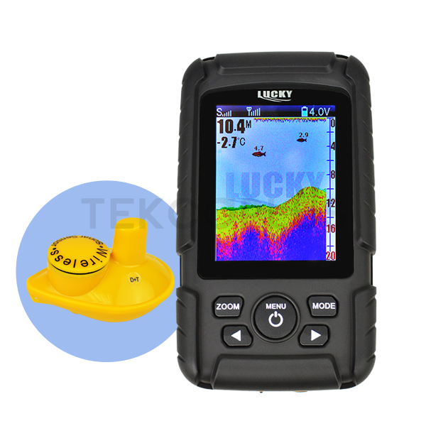 Color Screen Fish Finder Wireless Fish Finder Rechargeable Battery 180m Operational Range Waterproof(China (Mainland))