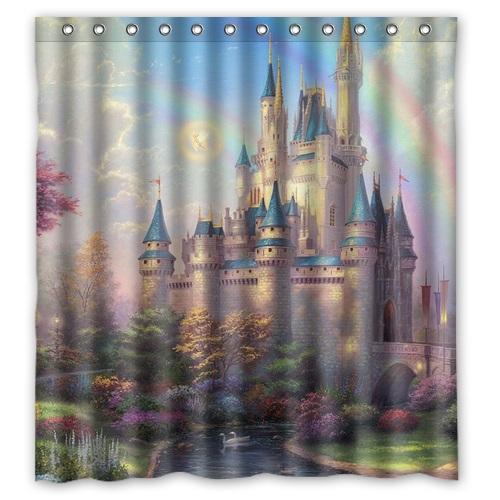 New Arrival Bathroom Polyester Shower Curtain Print