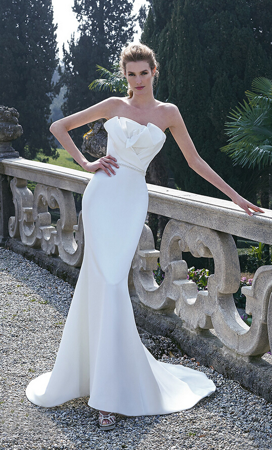 grace mermaid wedding dresses 2016 high quality satin