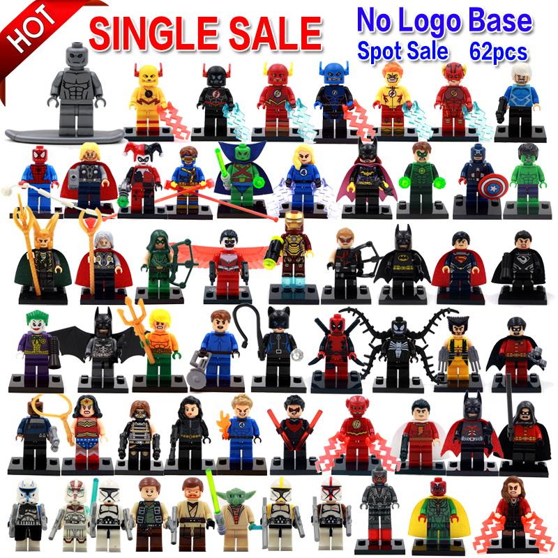 Figurines pour individuellement seule vente Marvel Super Heroes Avengers Batman Building Blocks modèle briques jouets(China (Mainland))