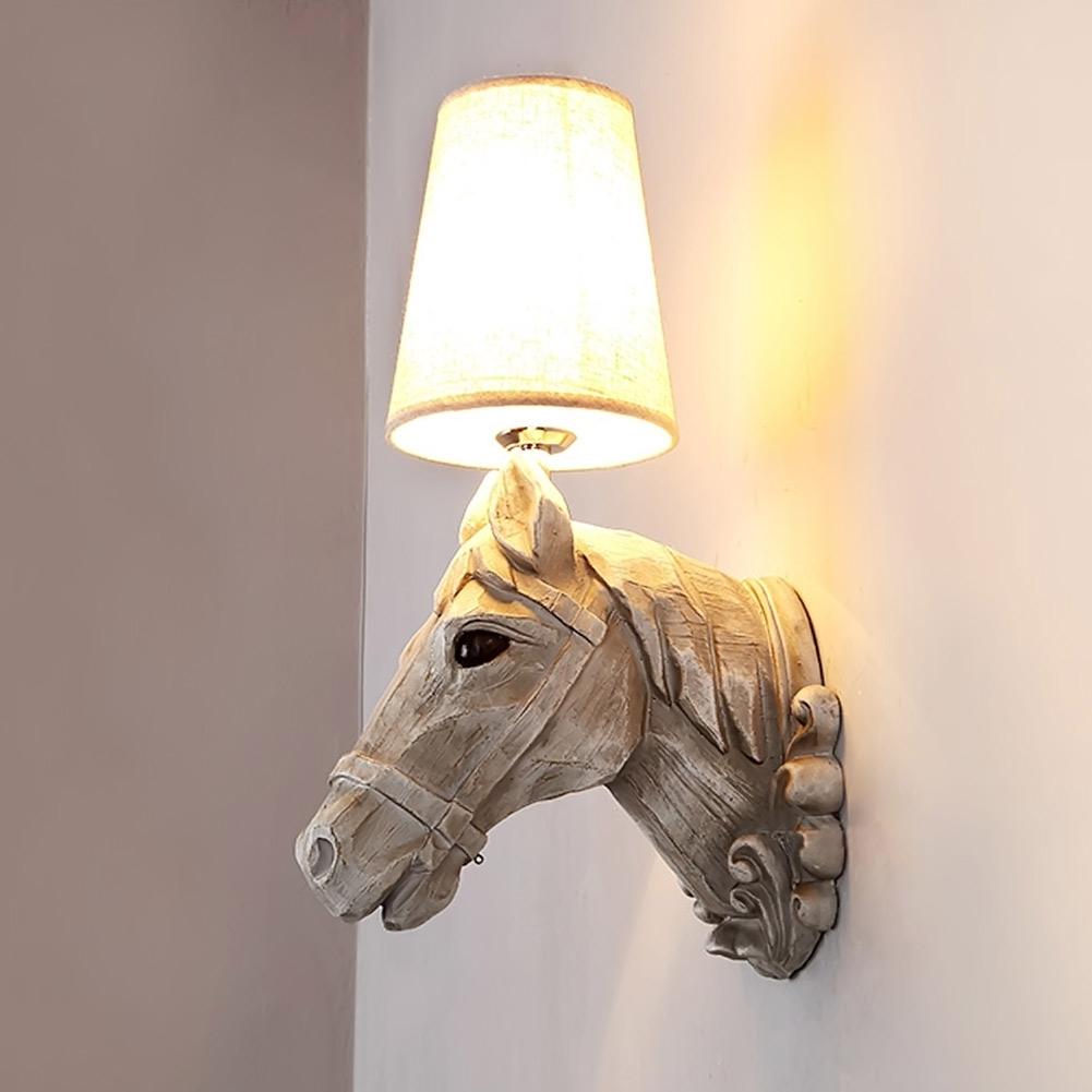 Achetez en gros t te de cheval en r sine en ligne des for Lampe de chevet cheval