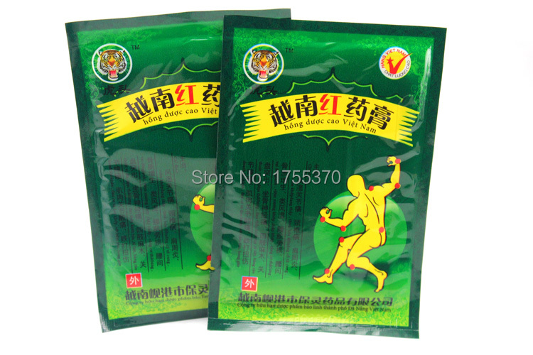 8Pcs/Bag Vietnam Red Tiger Balm Plaster Muscular Pain Stiff Shoulders Neck Massage Pain Relieving Patch Relief For Health Care(China (Mainland))