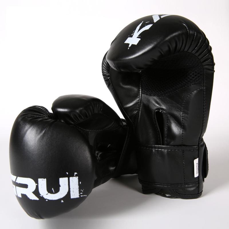 free shipping red/black Women and men boxing gloves fight glove guantes de boxeo luva de boxe