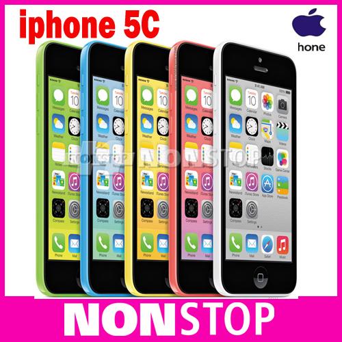 "Original Apple iPhone 5C Unlocked Mobile Phone 32GB Dual-Core IOS 8 Retina 4.0"" IPS 1GB 8MP 1080P GPS WIFI 3G WCDMA Smartphone(China (Mainland))"