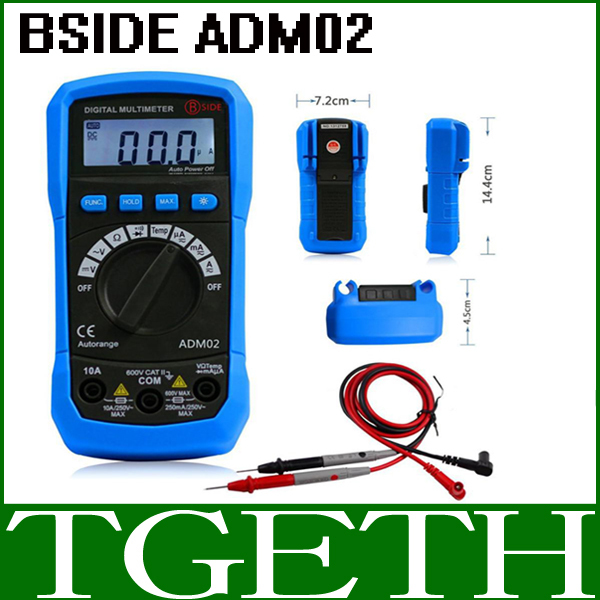 Professional BSIDE ADM02 Pocket Multifunction Digital Multimeter DMM Temperature DC/AC Voltage Current Meter Tester(China (Mainland))