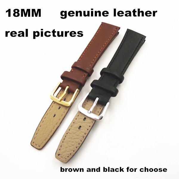 Новые прибыл - высокое качество 2шт/много 18 мм натуральная кожа смотреть band смотреть ремешок смотреть части - 091201