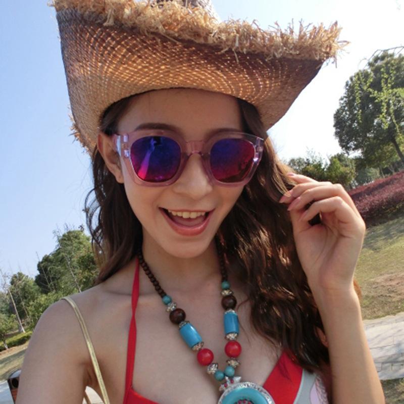 2014 new sunglasses mercury reflective sunglasses Fashion male woman color sheet glasses manufacturers direct sell free shipping(China (Mainland))