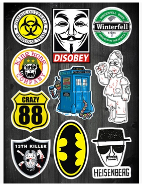 Full page stickers American TV movie zombie Doctor Who laptop stickers affixed waterproof case