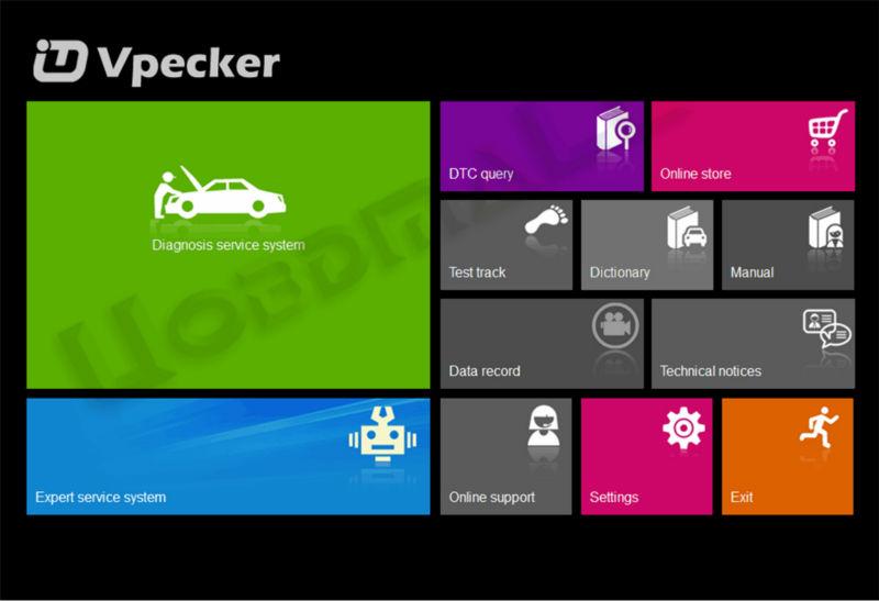 Vpecker Wifi OBDII 16Pin зажигания функция как android-x431 Idiag EasyDiag автомобиль кодекса сканера диагностический инструмент работы на окнах - черный