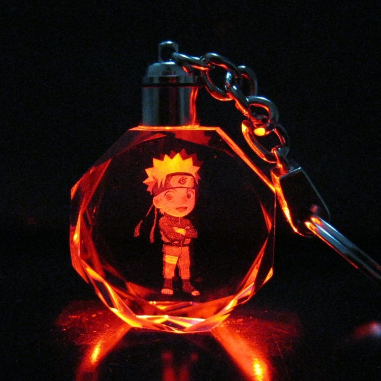 Japanese anime action figures toys NARUTO keychains pendant charms accessories flashing Light toys cute keychain key chain TC220(China (Mainland))