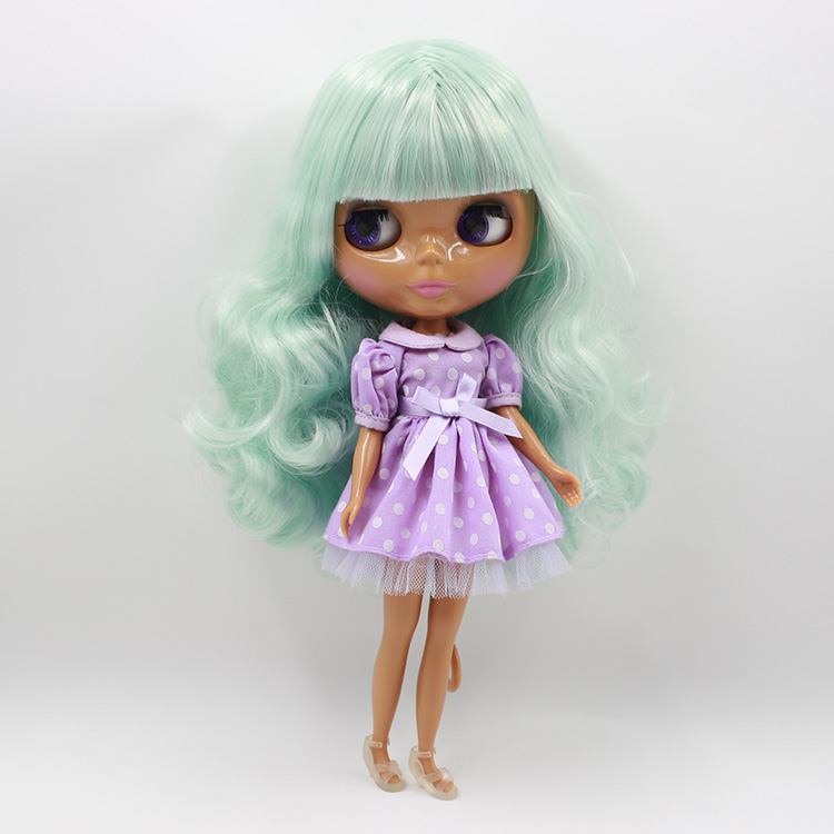 Free shipping Nude Blyth doll DIY 12 fashion dolls green curly long hair with bangs kids toys for girls<br><br>Aliexpress