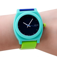 Montre Homme Brand New Multi-Colors Glass Fashion Women Men Sport  Watch Army Style Silicone Bracelet Wrist Watch  Free shipping(China (Mainland))