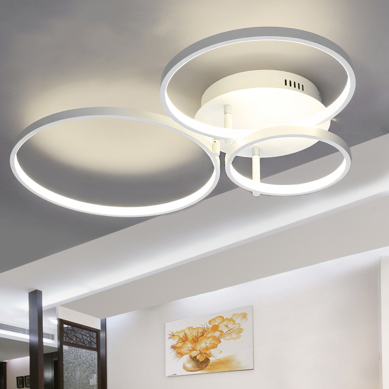 New Arrival Circle rings designer Modern led ceiling lights lamp for living room bedroom Remote control ceiling lamp fixtures(China (Mainland))