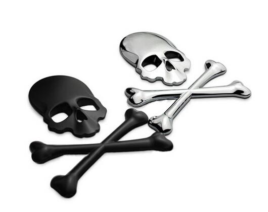 3D 3M Skull Metal Skeleton Car Sticker Label Skull Emblem Badge car styling stickers For Jeep SUV Harley Honda Yamaha Toyota(China (Mainland))