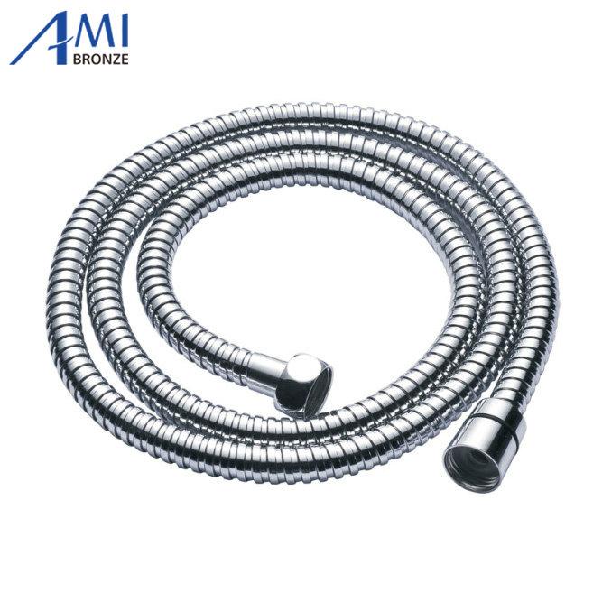 "150cm 60"" G1/2""B flexible shower hose chromed EPDM braided stainless steel(China (Mainland))"