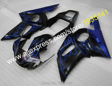 Buy Hot Sales,For Yamaha fairings bYZF R6 cowling 1998 1999 2000 2001 2002 YZF-R6 blue flames YZFR6 black body  (Injection molding) for $417.05 in AliExpress store
