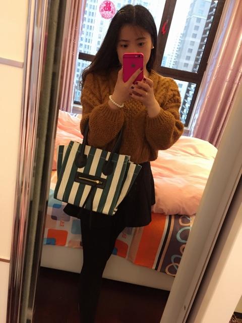 celine women luggage handbag in leather luggage