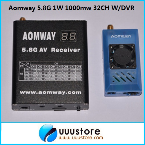 Aomway 5.8Ghz 1W 1000mW 32CH AV Transmitter/Receiver w/DVR Recorder function for FPV(China (Mainland))