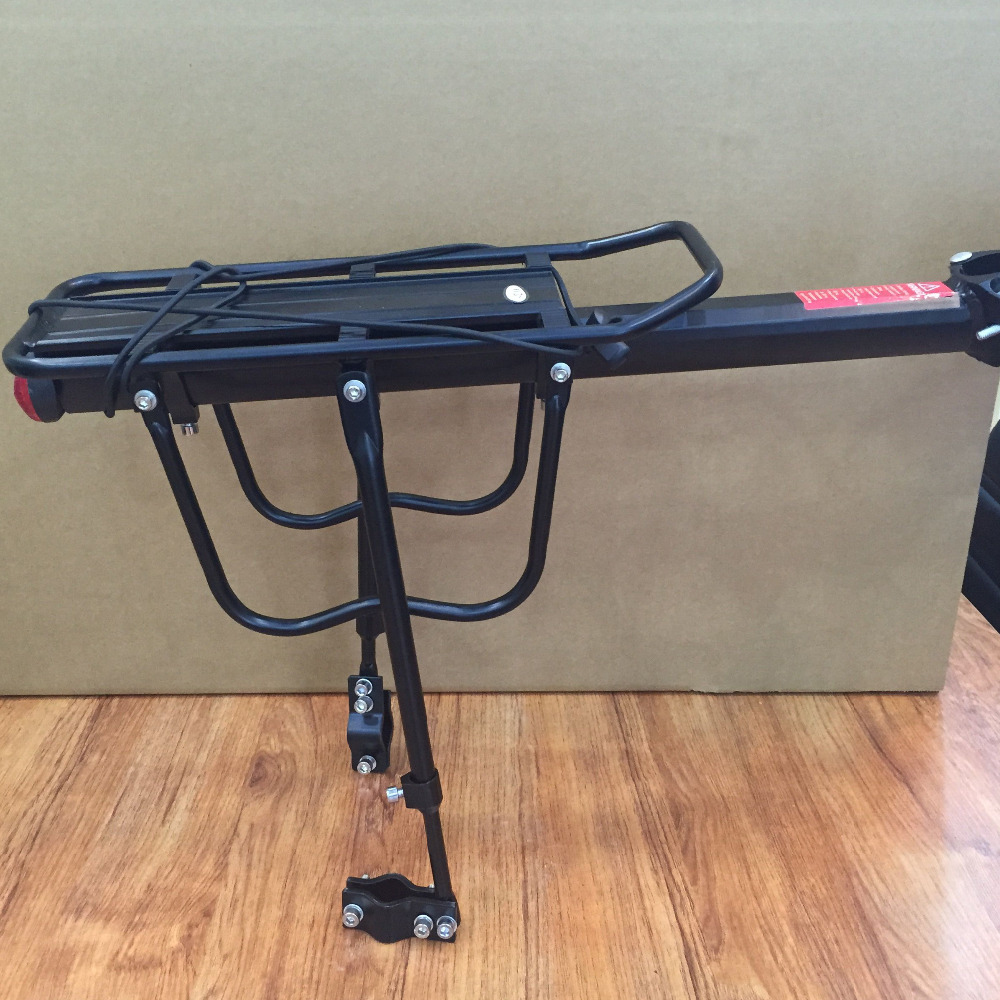 Aluminum Multipurpose Rear Carrier Rack Stacking Quick Release Adjustable Seat Shelf Bicycle Load 100Kg Luggage Cycling Parts(China (Mainland))