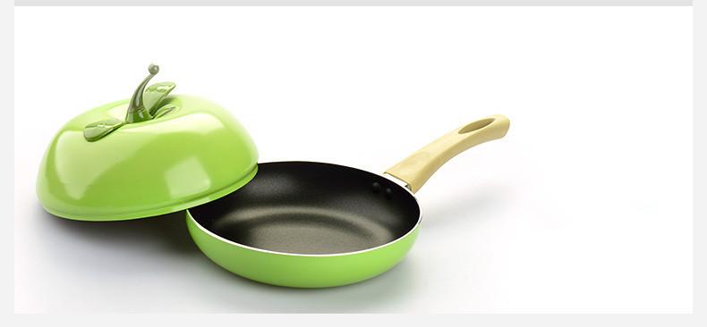 Hot Sale Fruit Frying Pan Colour Saucepan Ceramic Pan Grill Pan Cast Aluminum Cookware Gas Grill Pan(China (Mainland))