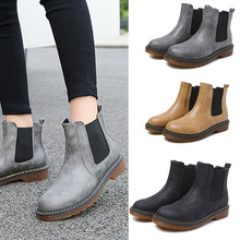 Buy New Fashion Autumn Winter Short Flat Heels Shoes PU Leather Martin Boots Women Ankle British Boots 88 WML99 for $27.13 in AliExpress store