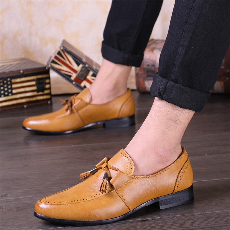 2016 Brand Luxury Men Shoes Tassel Cow Leather Loafer Mens Oxfords Shoes Zapatos Hombre Slip On Men Casual Shoes Ballerina Flats<br><br>Aliexpress