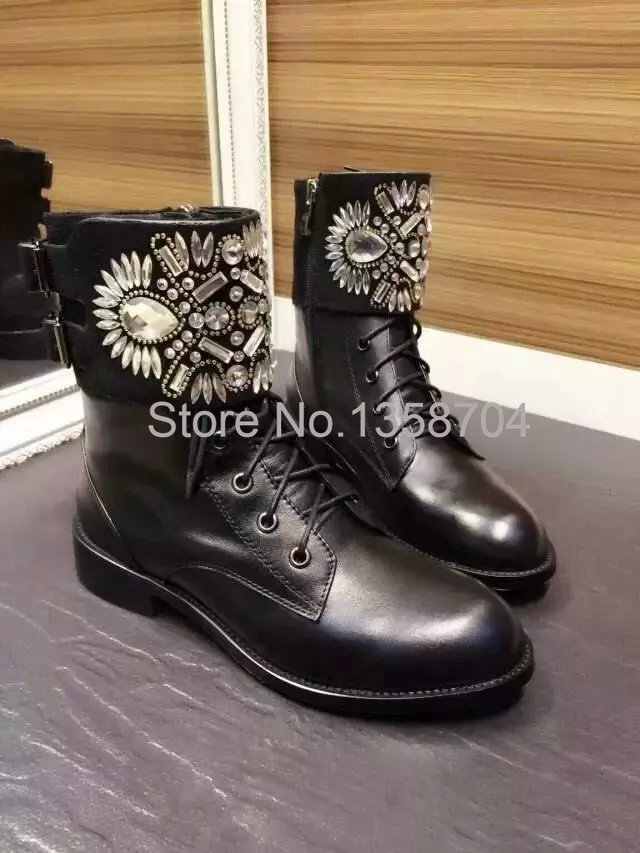 Top brand snow boots black patent leather ankle boot women boots 2015 winter Ankle Boots fashion quality Knee High designer boot