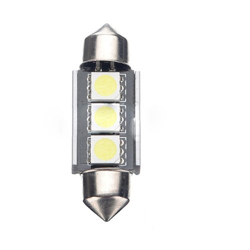 ( codee TM ) 2X 36mm CANBUS Error Free 3 LED 5050 SMD 6418 C5W License Plate Dome Light Bulb(China (Mainland))