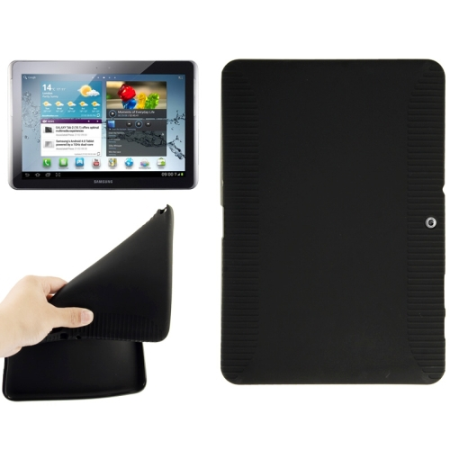 Tablet PC Accessories 10.1'' Non-slip Texture TPU Soft Case Cover for Samsung Galaxy Tab 2 (10.1) / P5100(China (Mainland))
