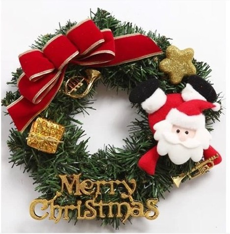 050768 Artificial Christmas wreath of household decoration The festival supplies outdoor party free shipping(China (Mainland))