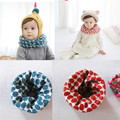 Sweet Baby Girls Boys Toddler Infant Polka Dot O Ring Scarf Kids Child Winter Soft Collar