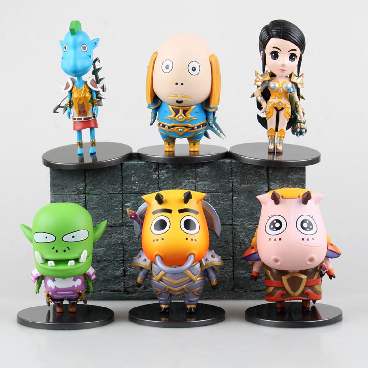 6pcs/set WOW MT2 Gratis verzending Arthas Ik ben Speelgoed Pop Kerstcadeaus PVC 10CM Model Action Figure Collection Online Game(China (Mainland))