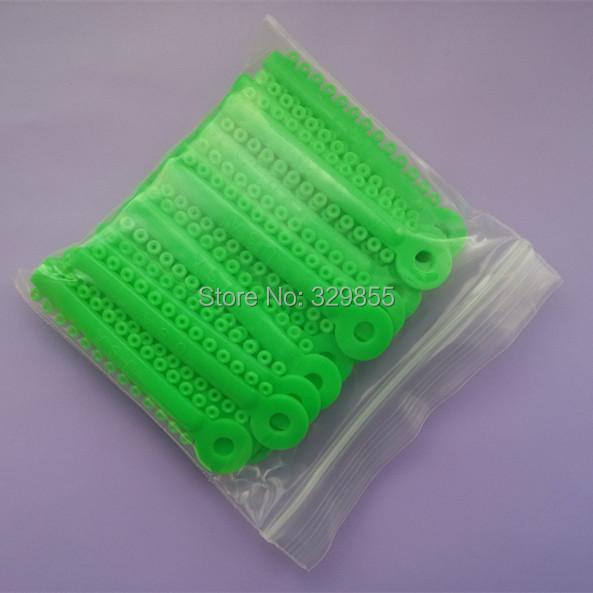 NEW 1 Pack 1040 pcs Dental Ligature Ties Orthodontics Elastic Elastomeric Ligature Ties Bands Braces Spring Green Color(China (Mainland))