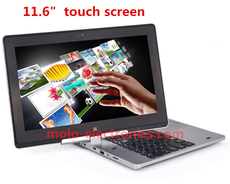 "11.6"" touch screen rotating notbook laptop Celeron dual core Windows 8 camera HDD & SSD(China (Mainland))"
