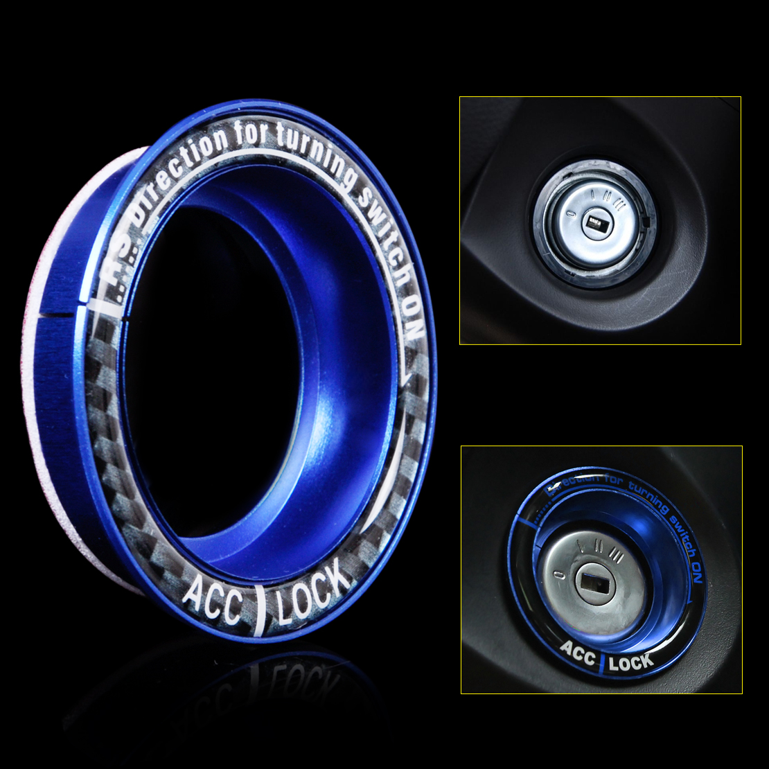 Car Blue Ignition key lock keyhole decoration Ring protector Trim Cover for Ford Focus 2005 2006 2007 2008 2009 2010 2011 2012(China (Mainland))